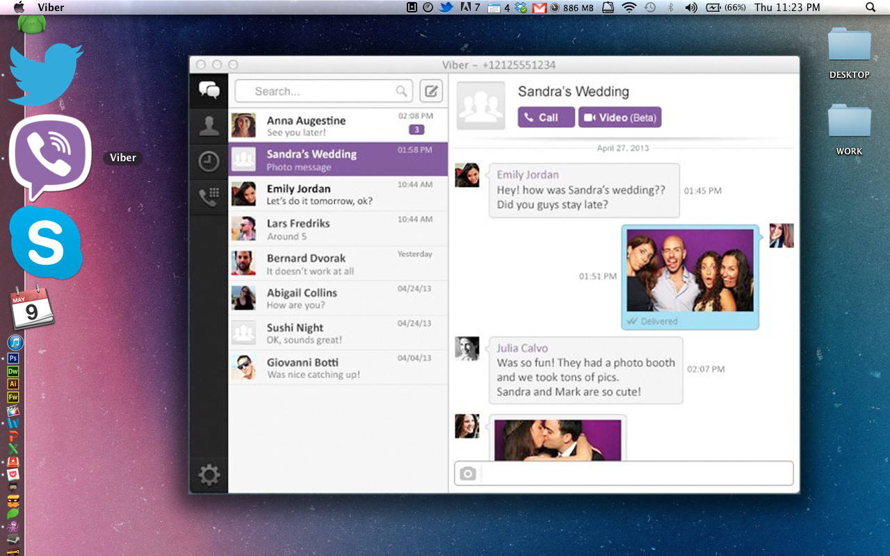 WatFile.com Download Free viber-desktop-interface