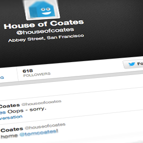 The House of Coates Tweet